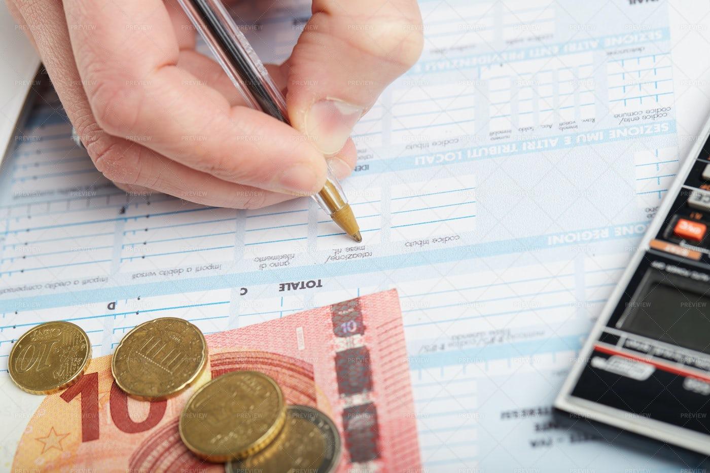 Preparing Taxes: Stock Photos