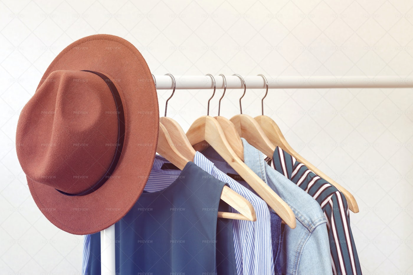 Clothes With Brown Hat: Stock Photos