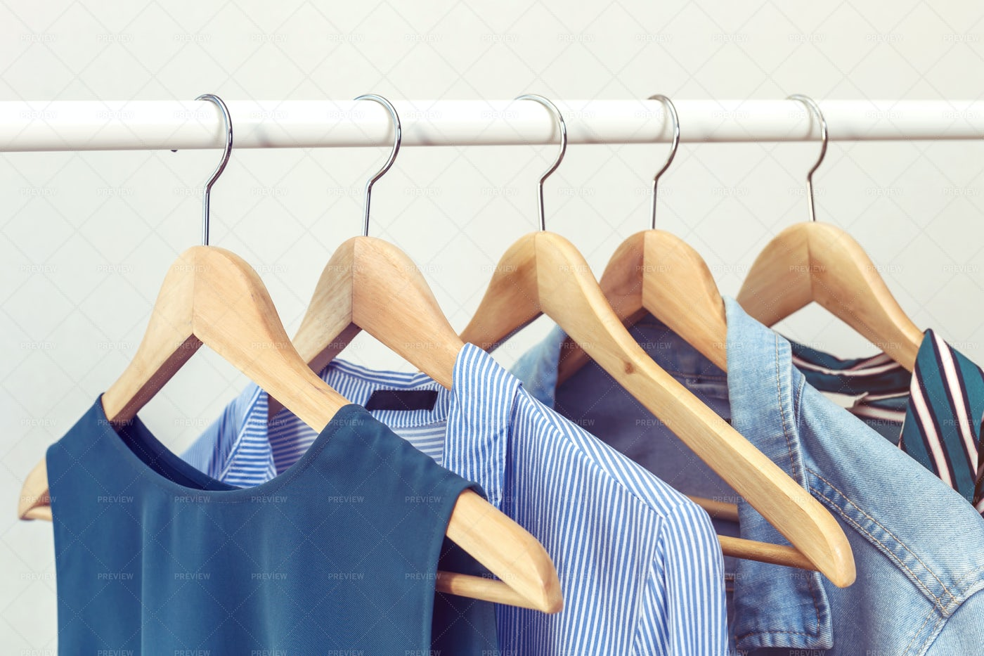 Shirts In Hangers: Stock Photos