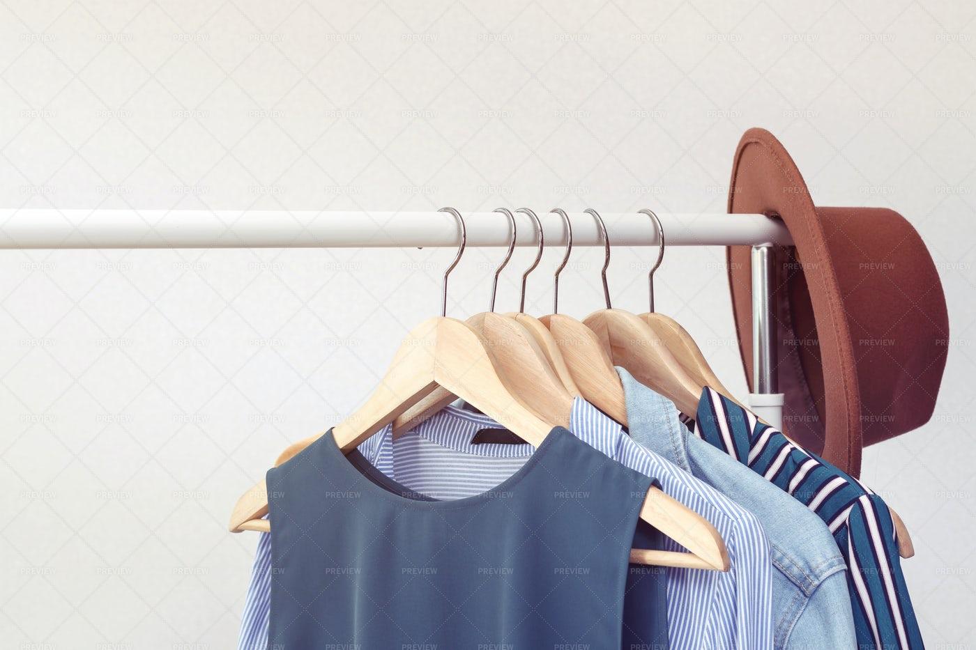 A Rack Of Clothes: Stock Photos