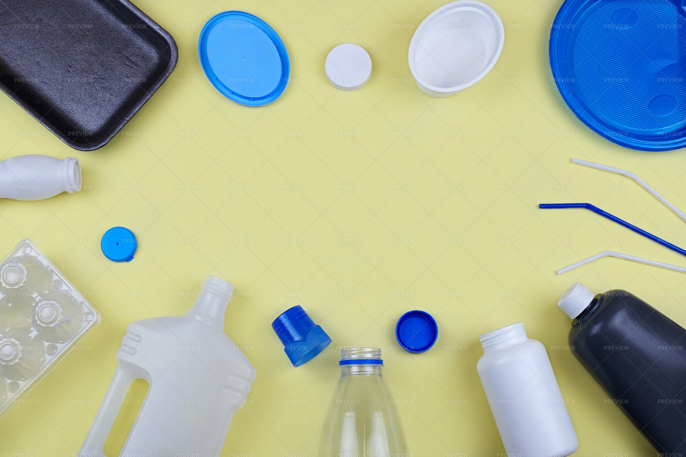 Plastic Waste For Recycling: Stock Photos