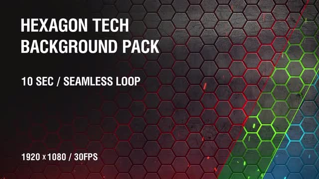 Hexagon Tech Background Pack: Stock Motion Graphics