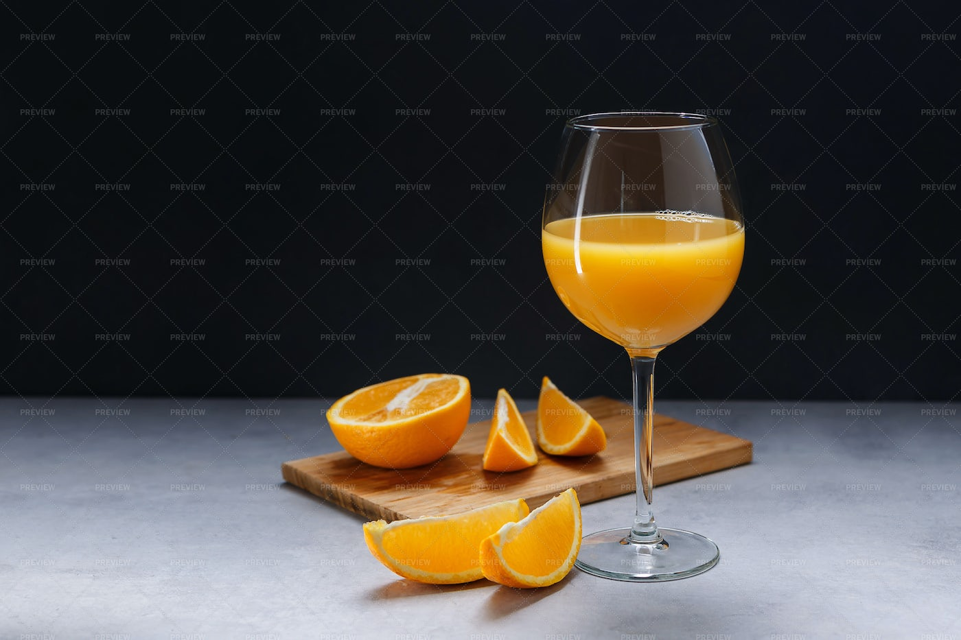 Orange Juice With Oranges: Stock Photos