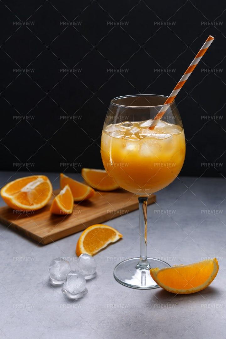 Orange Juice With Ice: Stock Photos