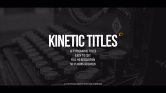 Kinetic Titles v.1: Premiere Pro Templates