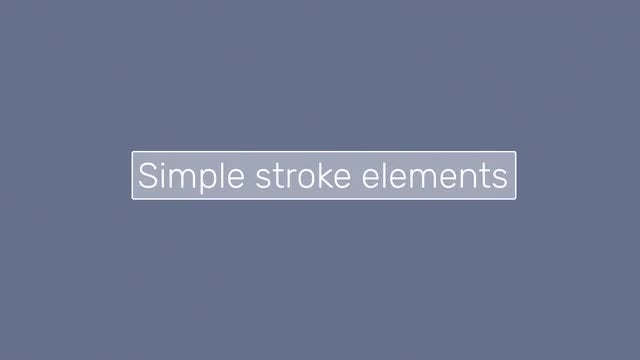 Simple Stroke Elements: After Effects Templates