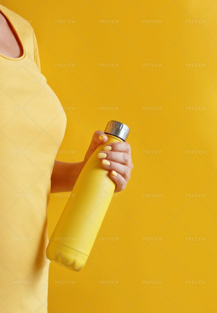 Woman With Reusable Bottle: Stock Photos