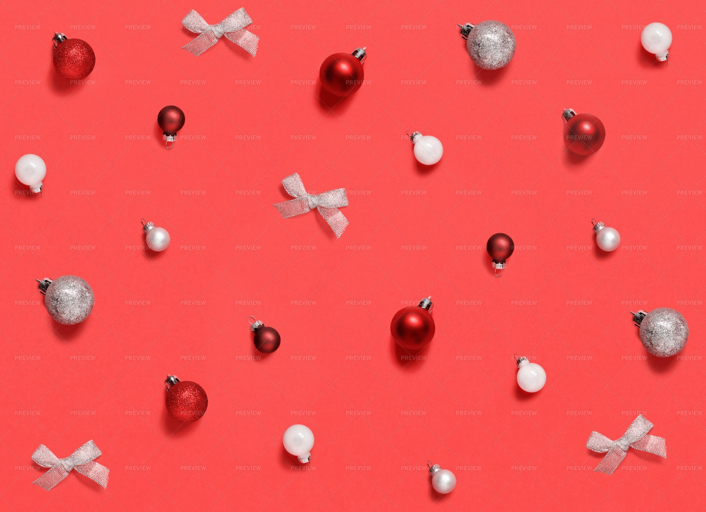 Red And White Christmas Decorations: Stock Photos