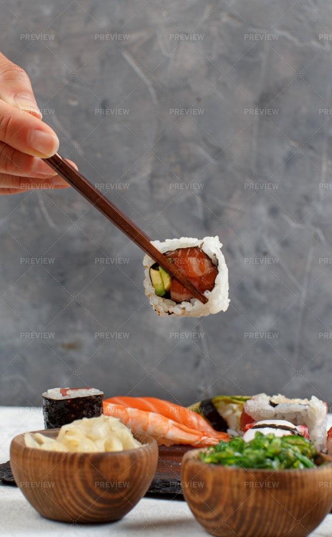 Eating Sushi: Stock Photos