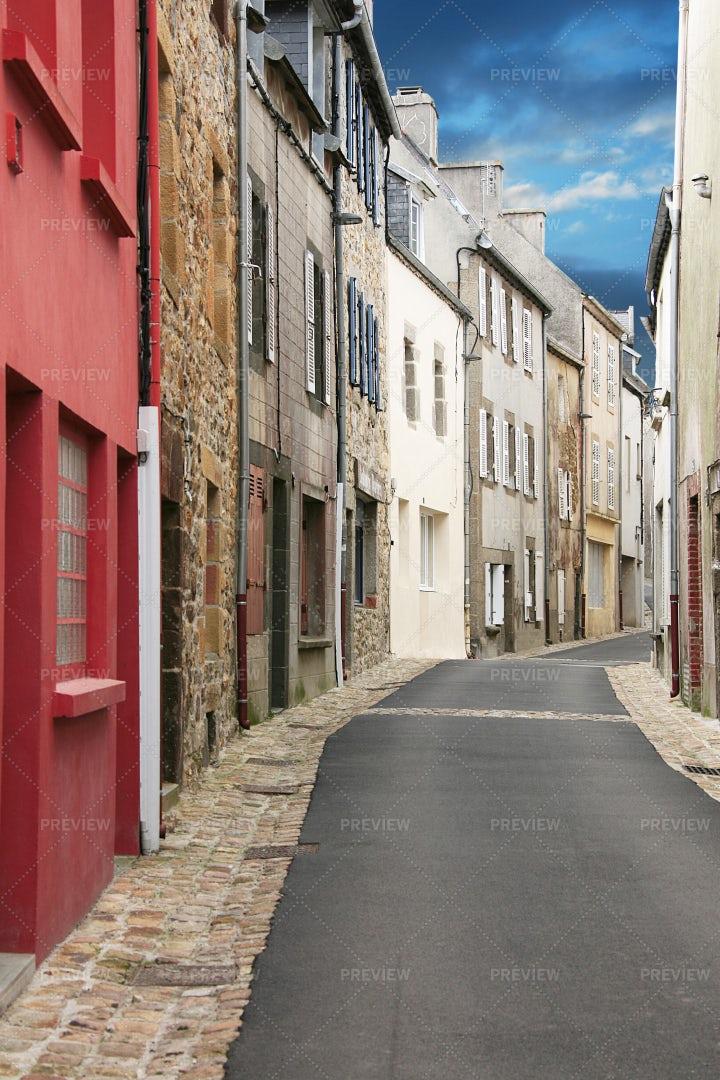 Antique Breton Lane: Stock Photos