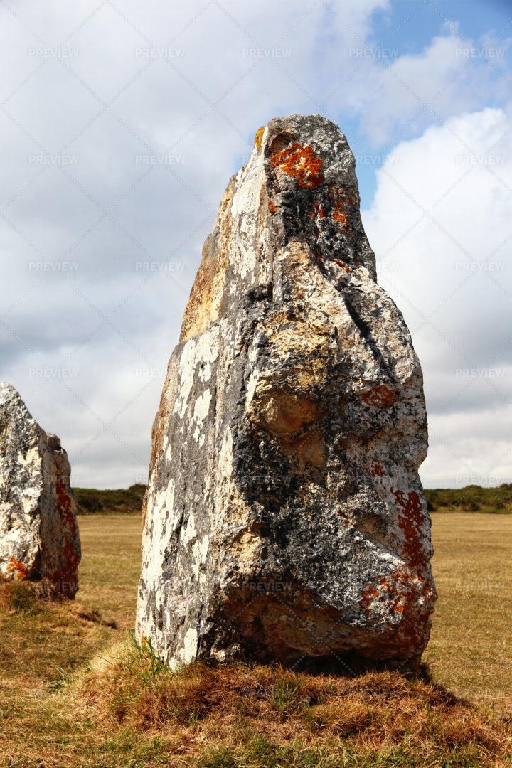 Prehistoric Menhirs: Stock Photos