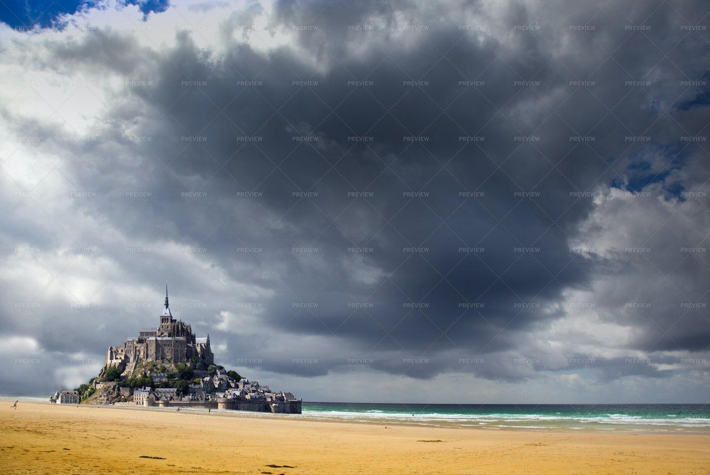 Mont Saint Michel Abbey: Stock Photos