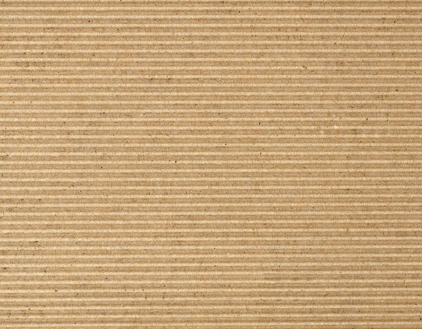 Corrugated Cardboad, Horizontal Lines: Stock Photos