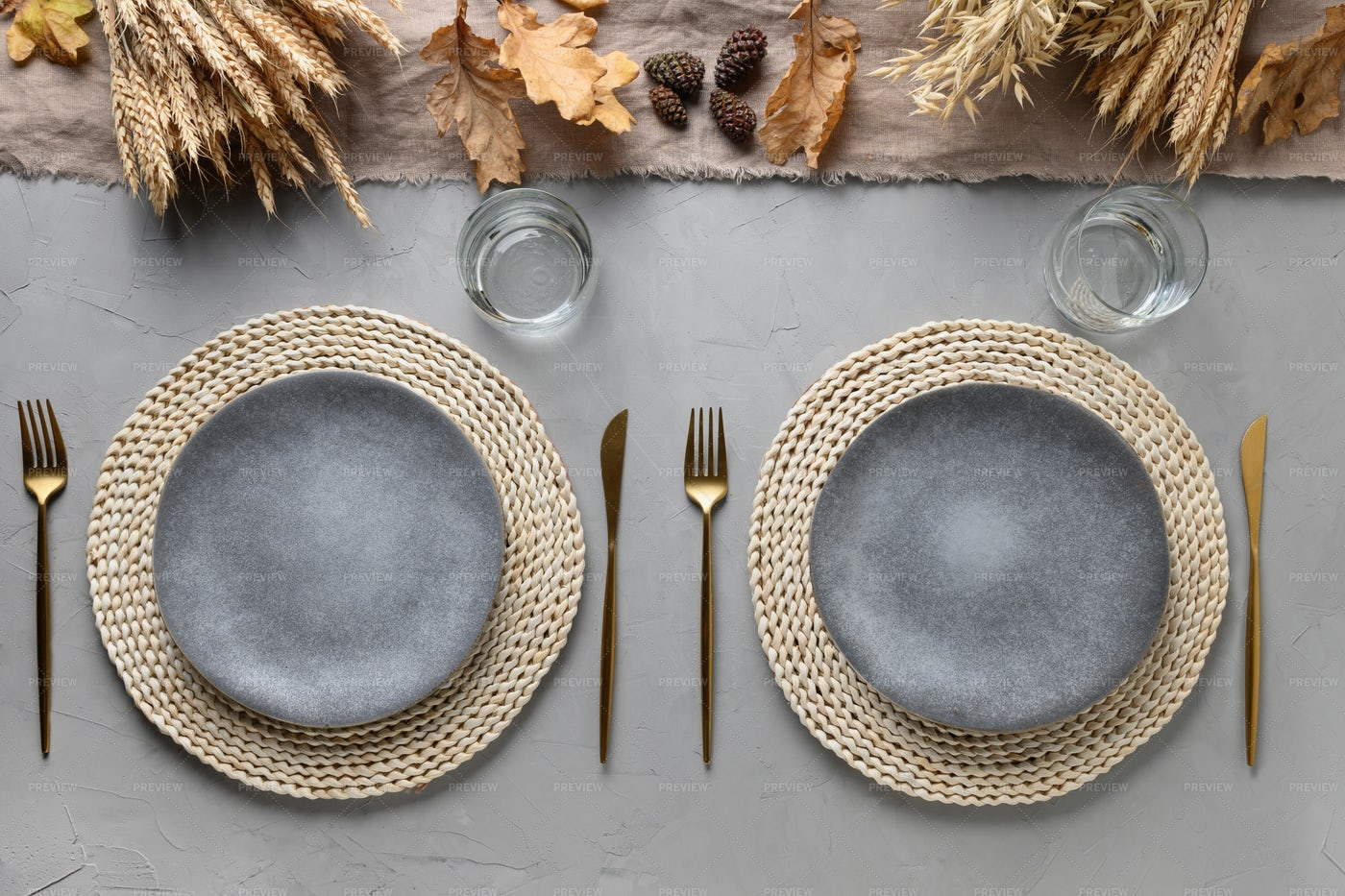 Autumn Table Setting: Stock Photos