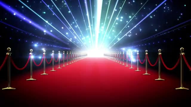 Superstar Red Carpet Loop: Stock Motion Graphics