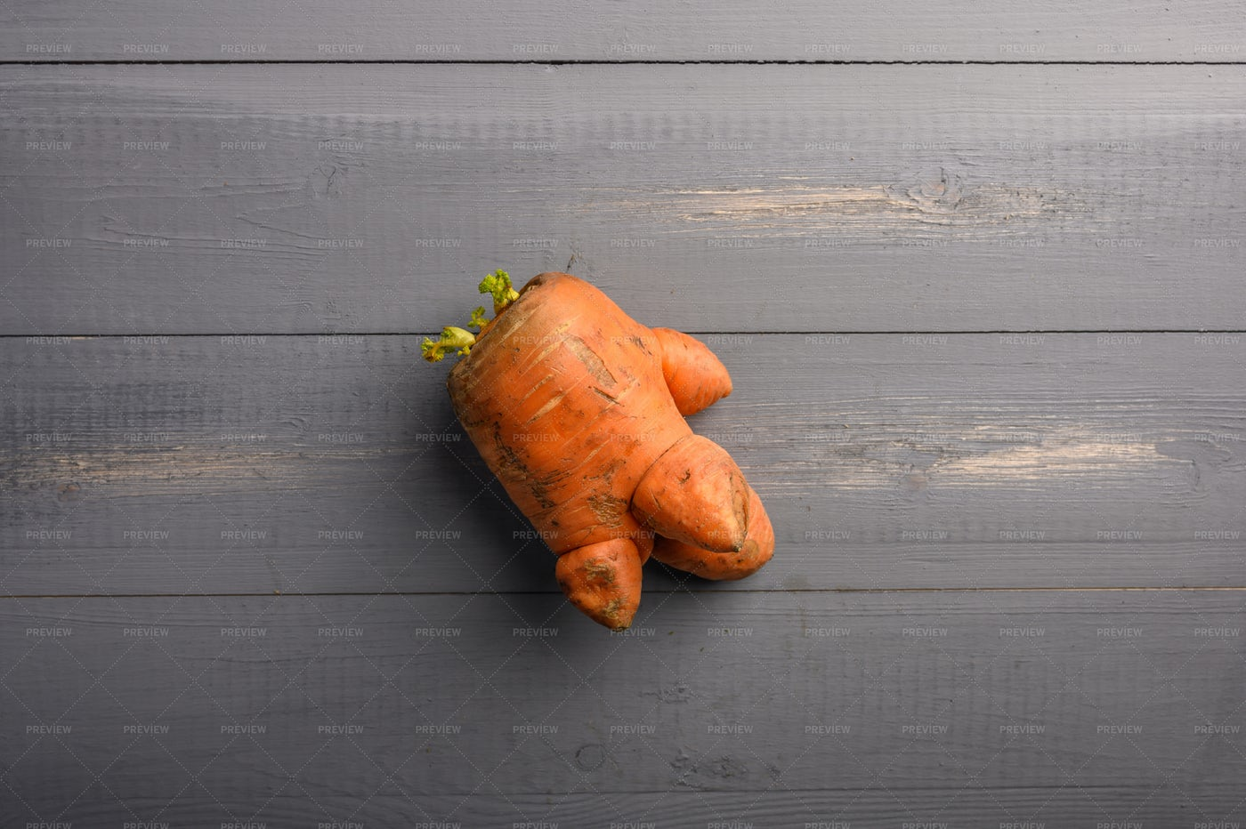 Little Ugly Carrot: Stock Photos