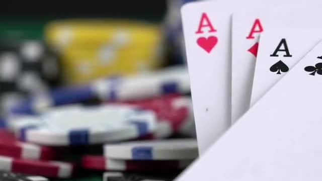 Gambling Items On Display: Stock Video