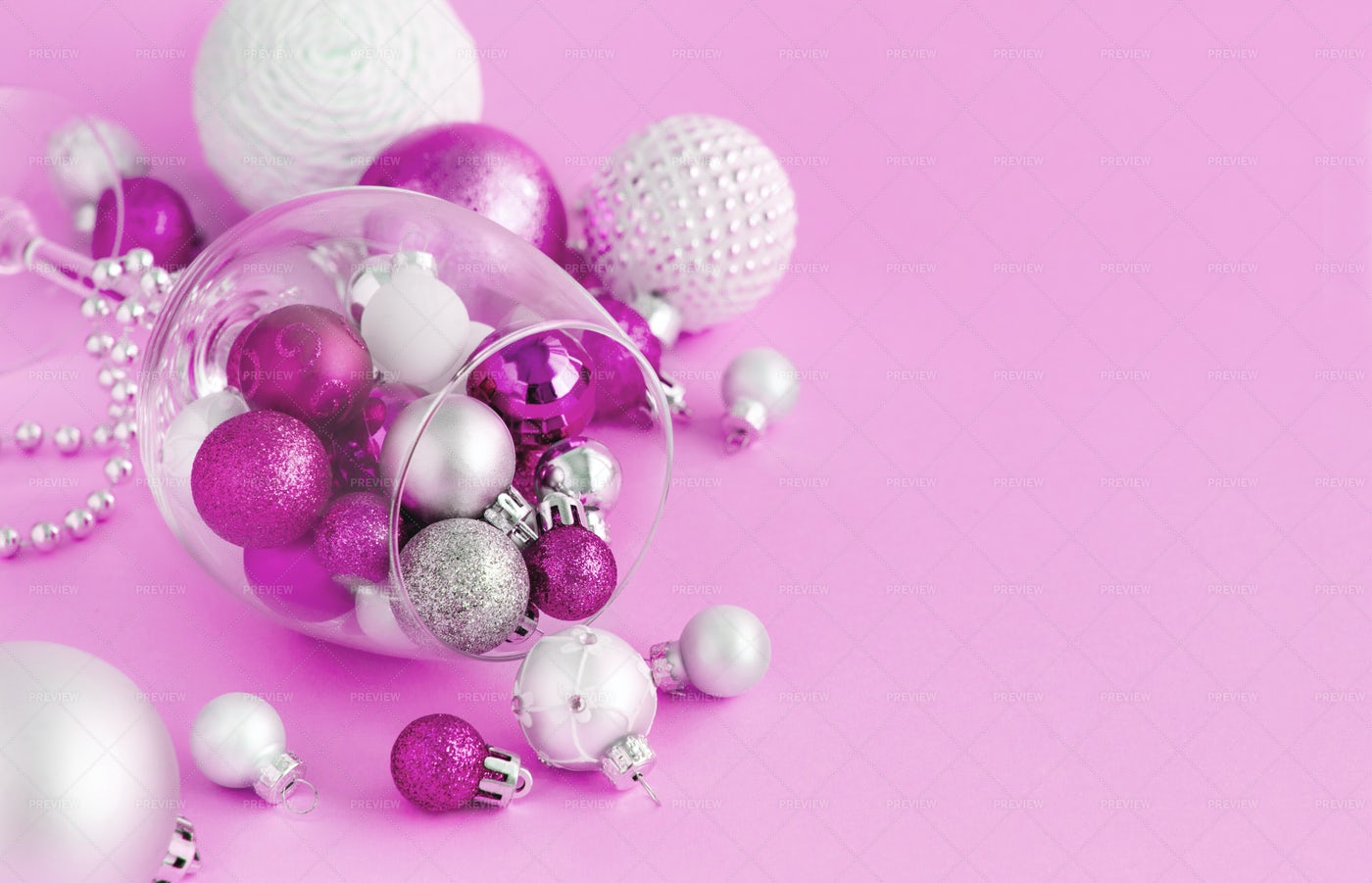 Christmas Pink Baubles: Stock Photos