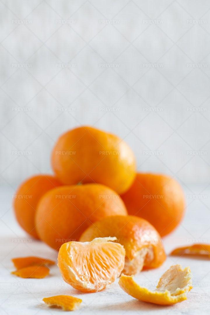 Fresh Mandarins: Stock Photos