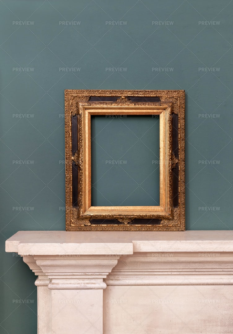 Gilded Vintage Frame: Stock Photos
