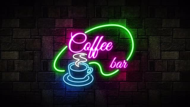 Neon Coffee Bar: After Effects Templates