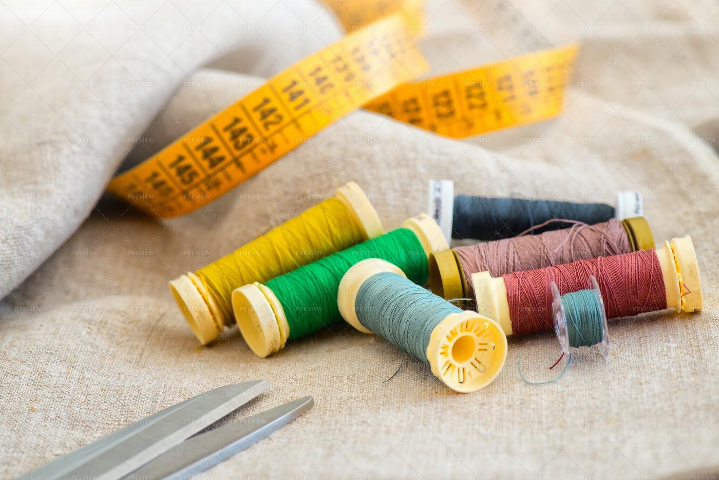 Sewing Materials: Stock Photos