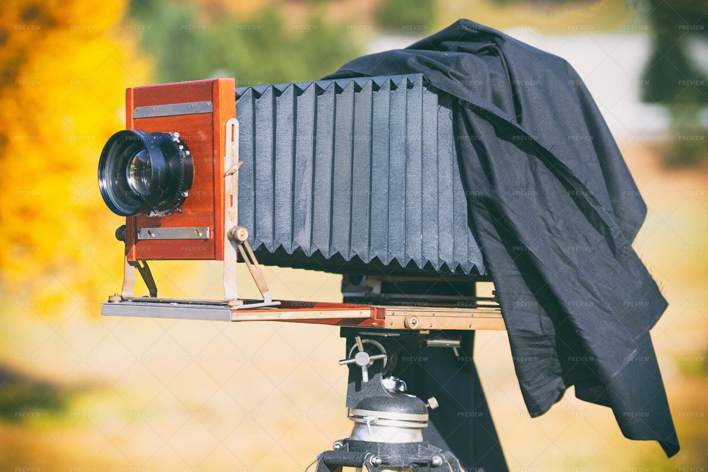 Medium Format Vintage  Camera: Stock Photos