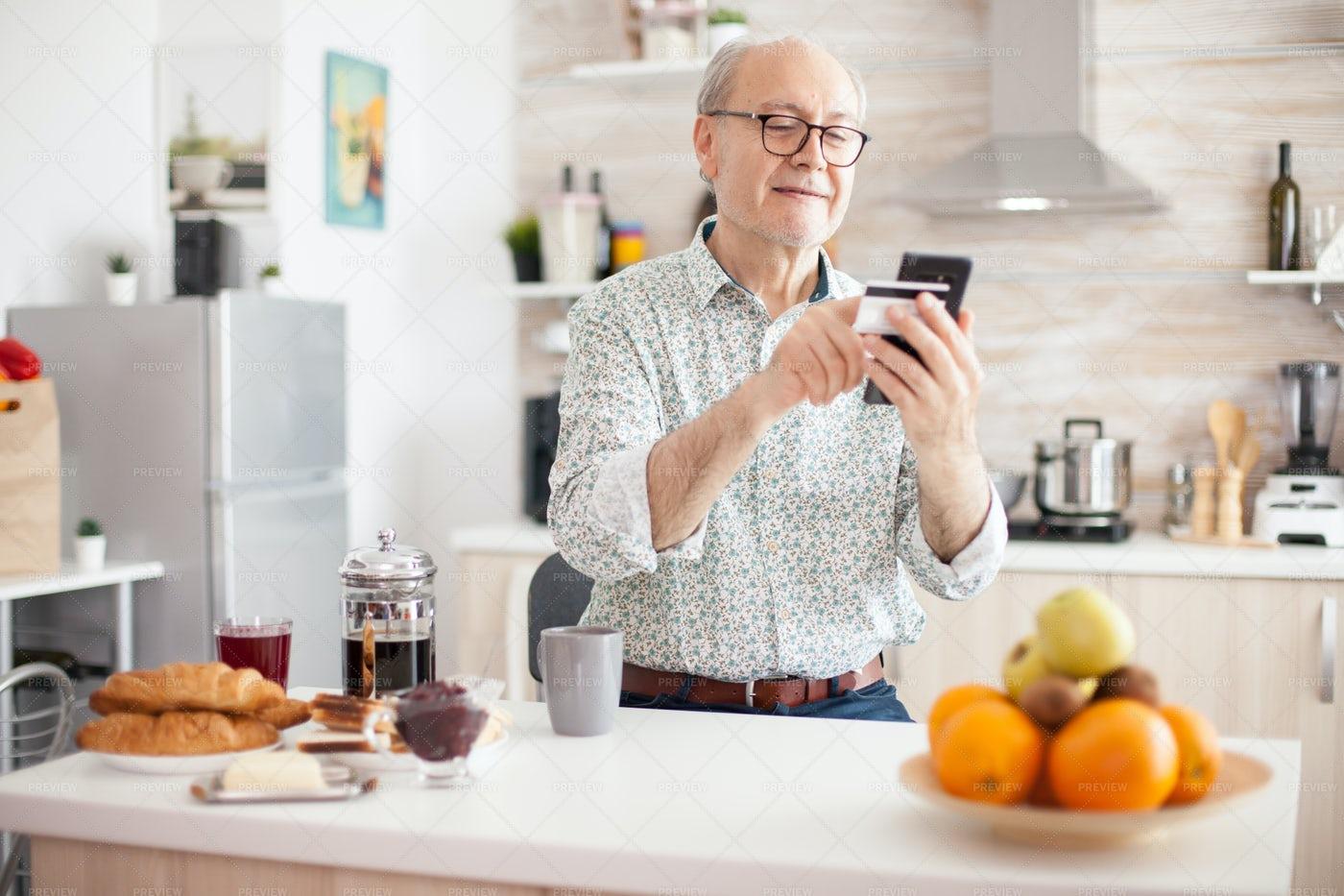 Man Doing Online Transaction: Stock Photos