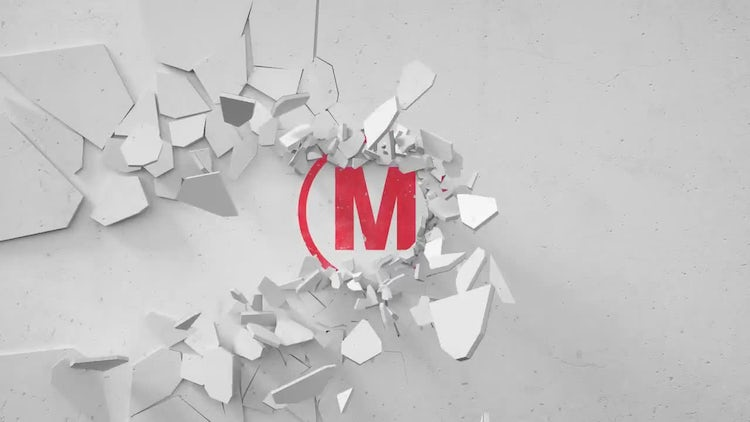 Logo with a broken wall: After Effects Templates