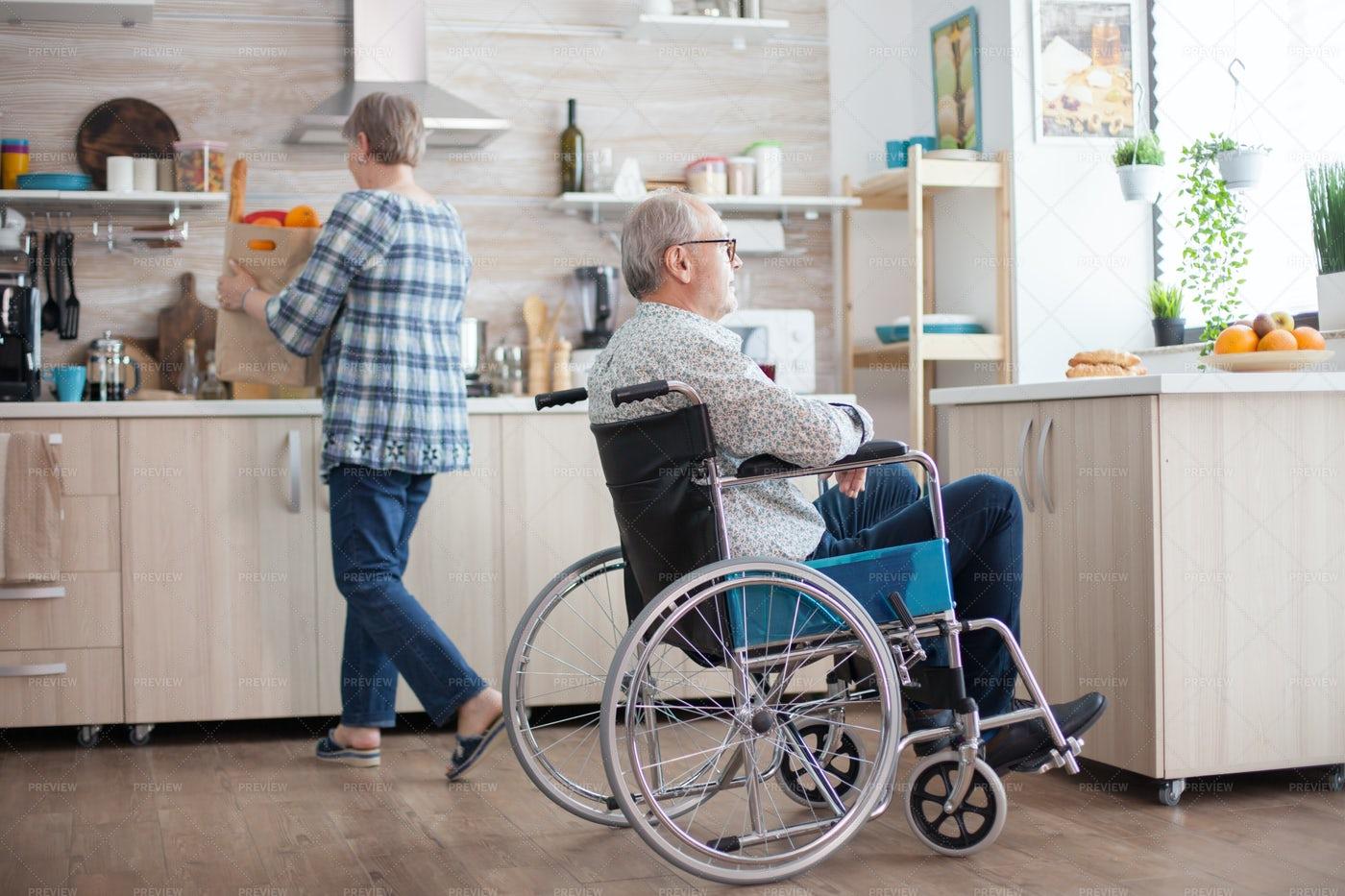Invalid Senior Man: Stock Photos