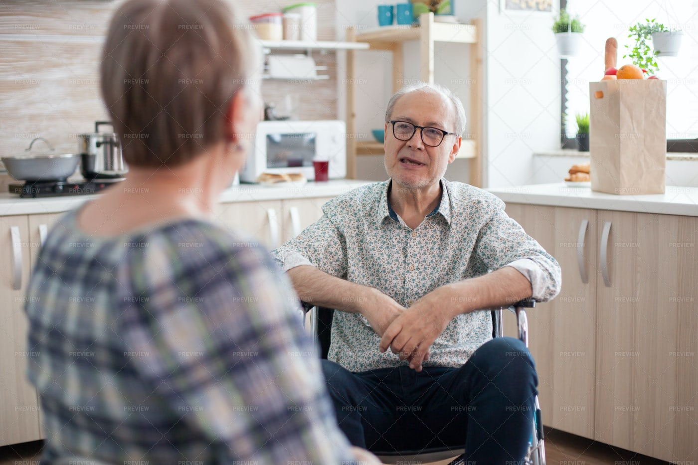 Man Talking With Wife: Stock Photos