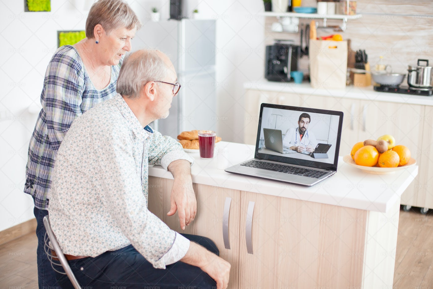 Video Call With Doctor: Stock Photos