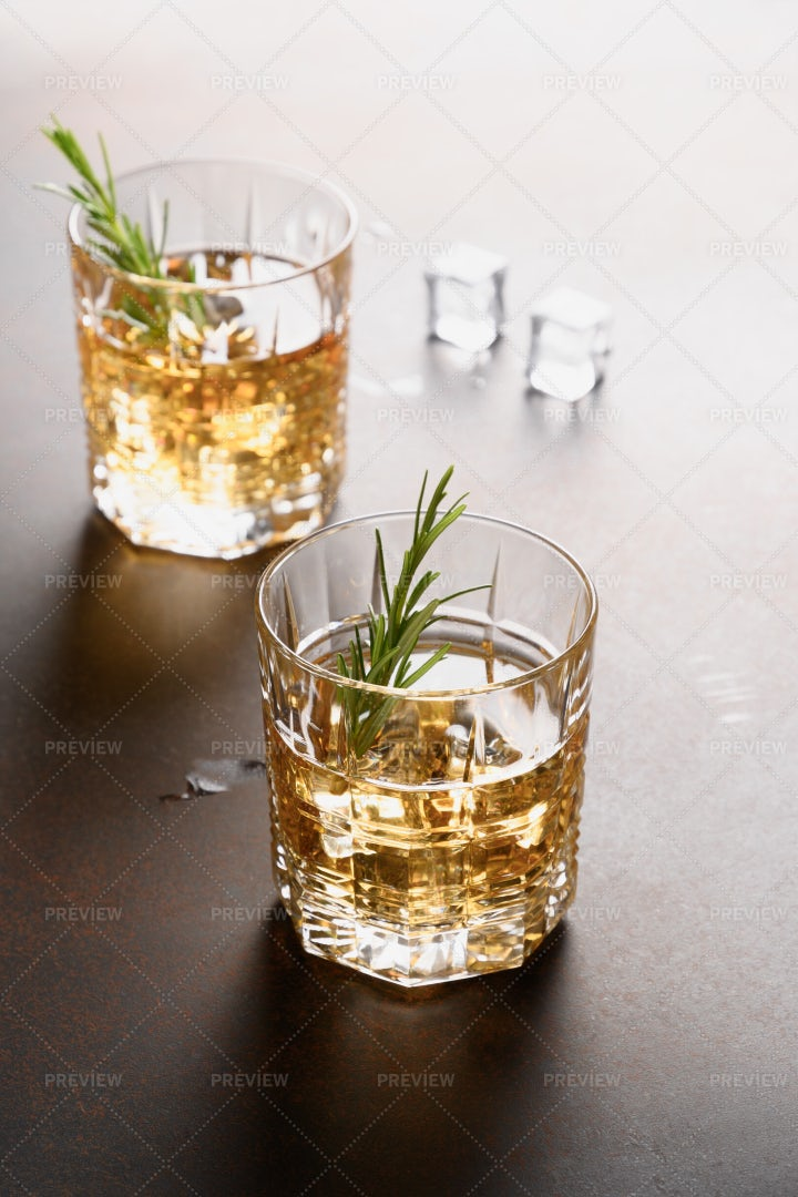 Two Glasses Of Whiskey: Stock Photos