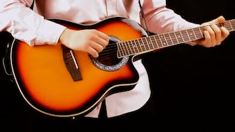 Man Playing The Guitar : Stock Footage