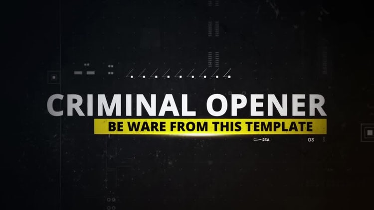 Criminal Opener: After Effects Templates