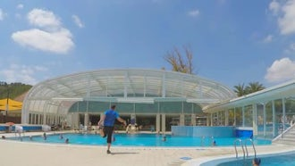 Time-lapse Of A Swimming Pool : Stock Footage