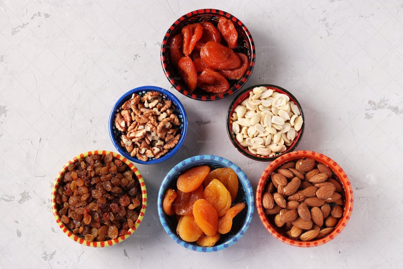 Dried Fruits And Nuts: Stock Photos