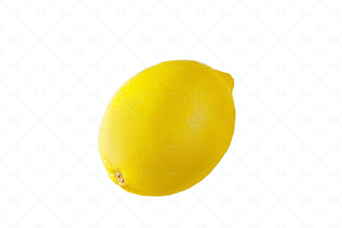 Ripe Lemon On White: Stock Photos