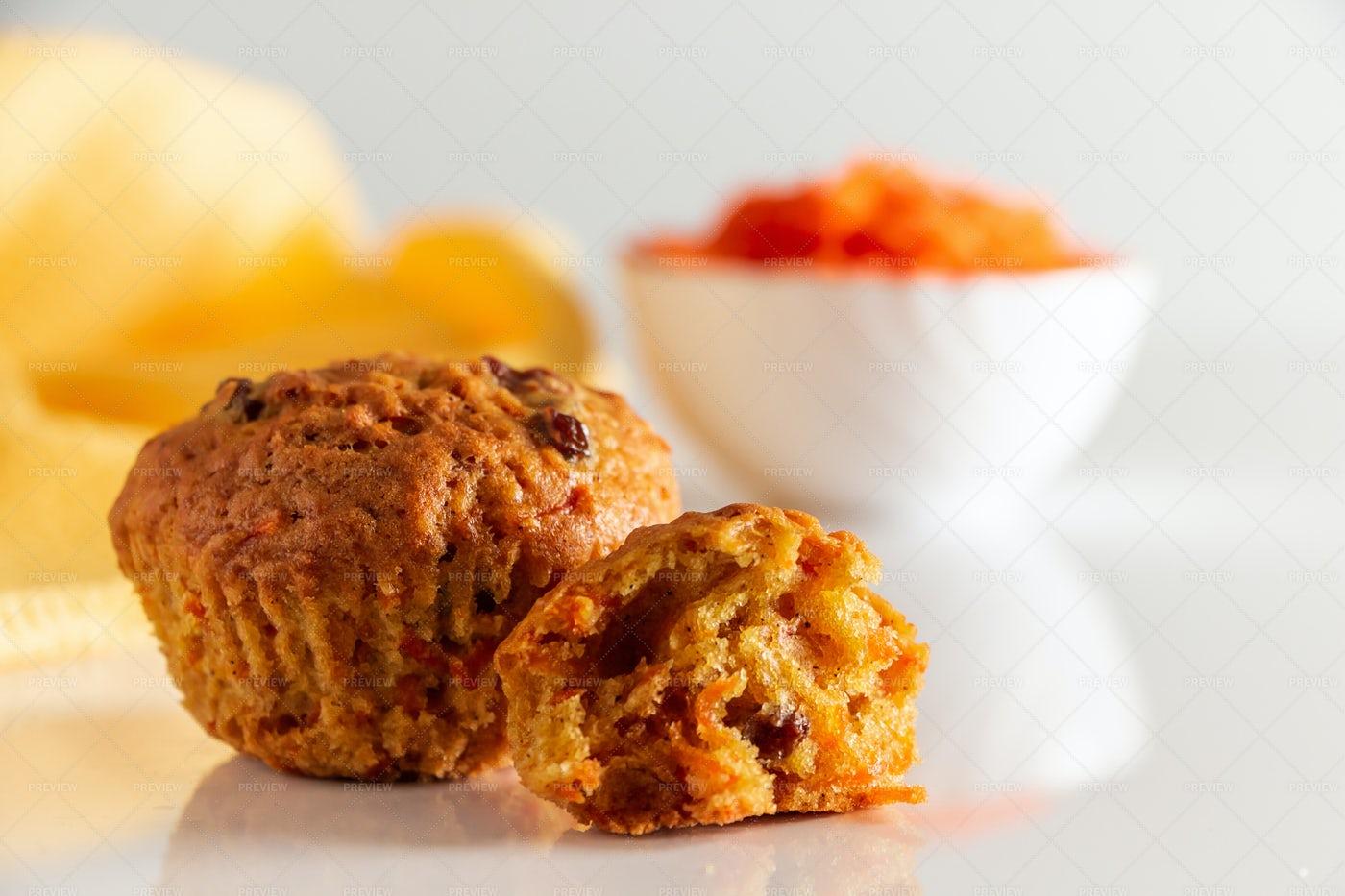 Pumpkin Muffins: Stock Photos