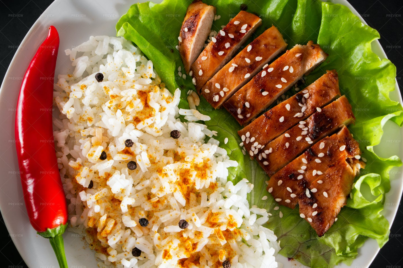 Homemade Teriyaki Chicken: Stock Photos