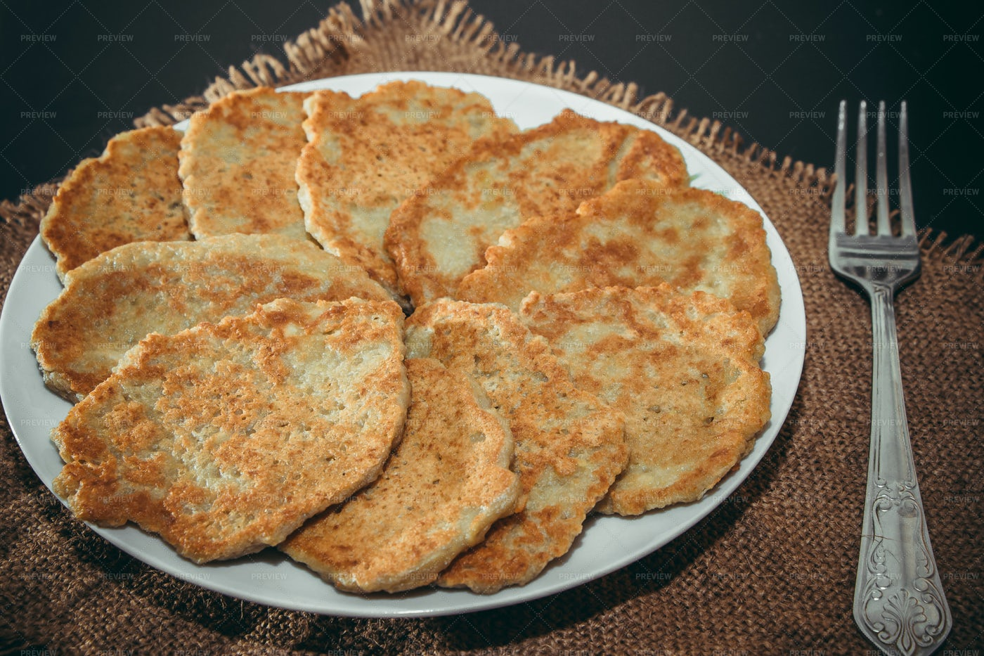 Belarusian Potato Pancakes: Stock Photos