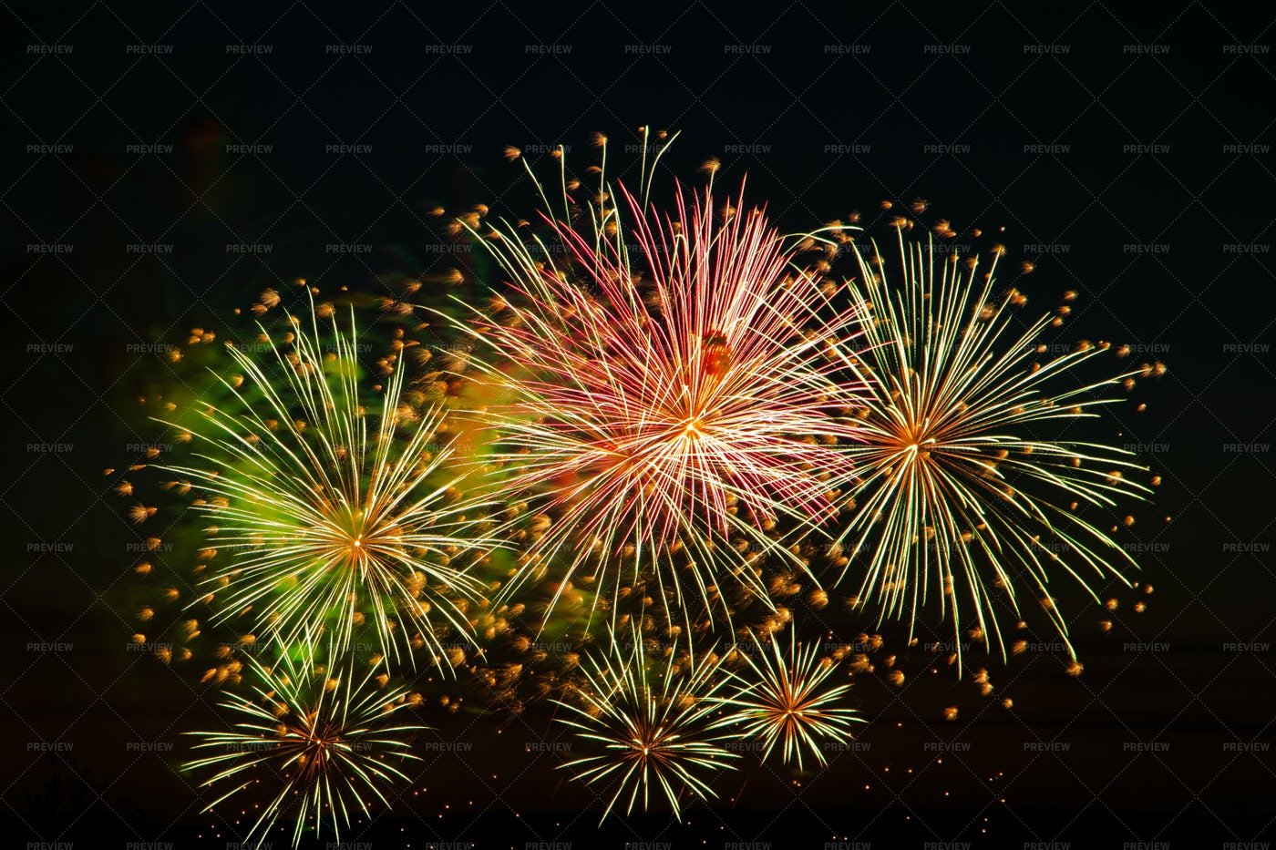Colorful Fireworks: Stock Photos