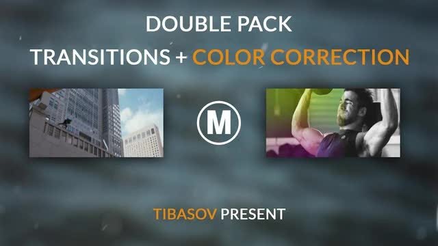 Double Pack Transitions And Color Correction: After Effects Templates