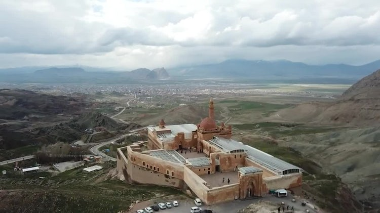 Top Of Ishak Pasha Palace: Stock Video