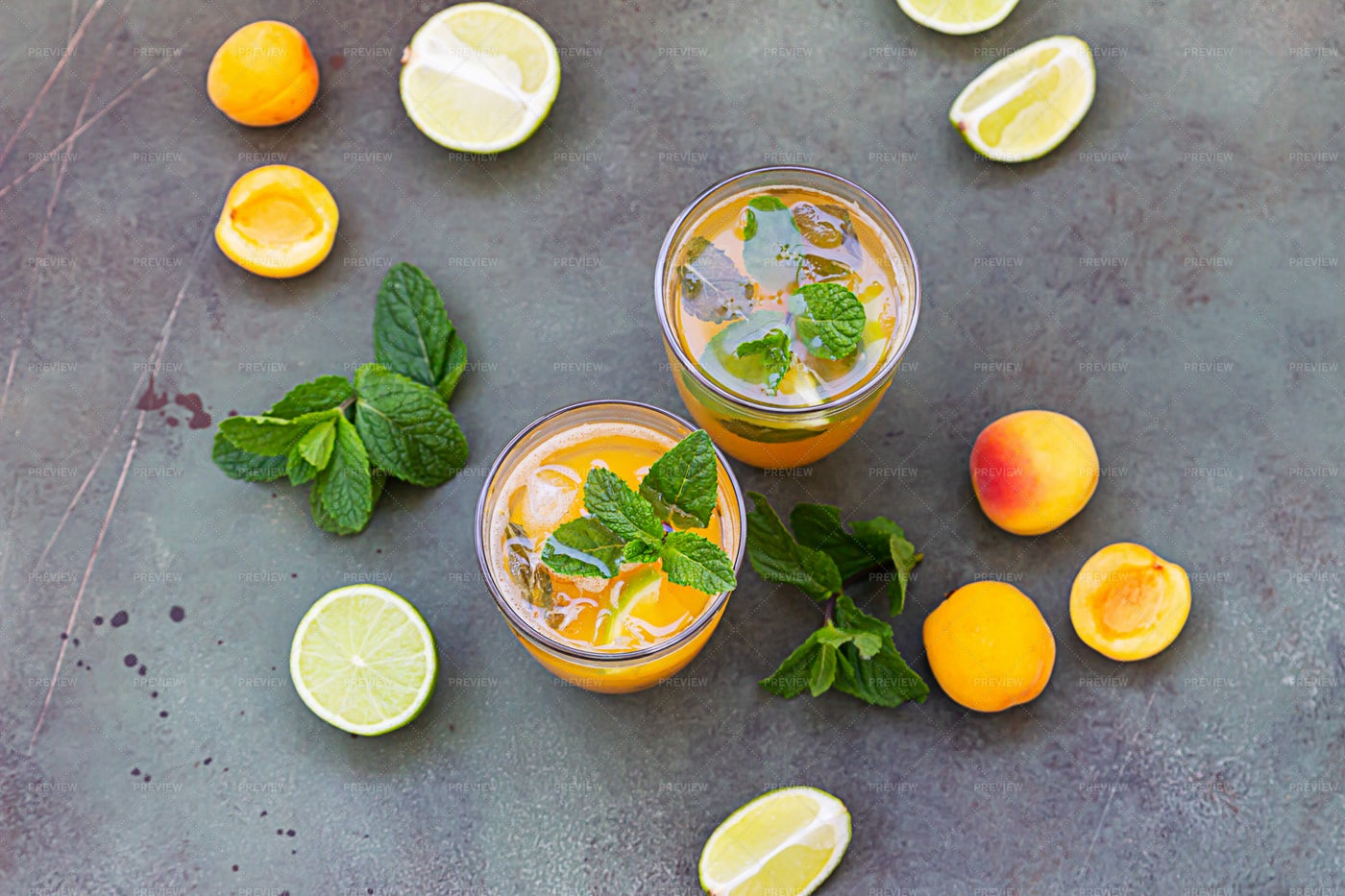 Mocktail With Apricot: Stock Photos