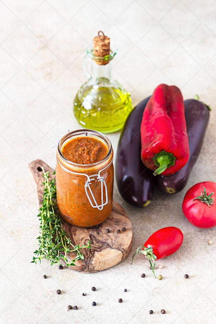 Vegetable Preserves Background: Stock Photos