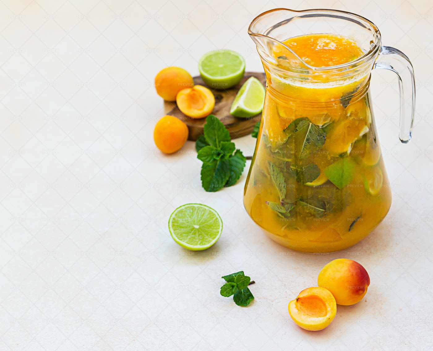 Apricot Limeade Background: Stock Photos
