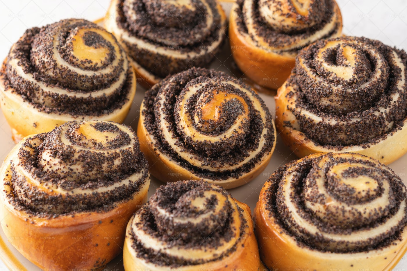 Homemade Sweet Buns: Stock Photos