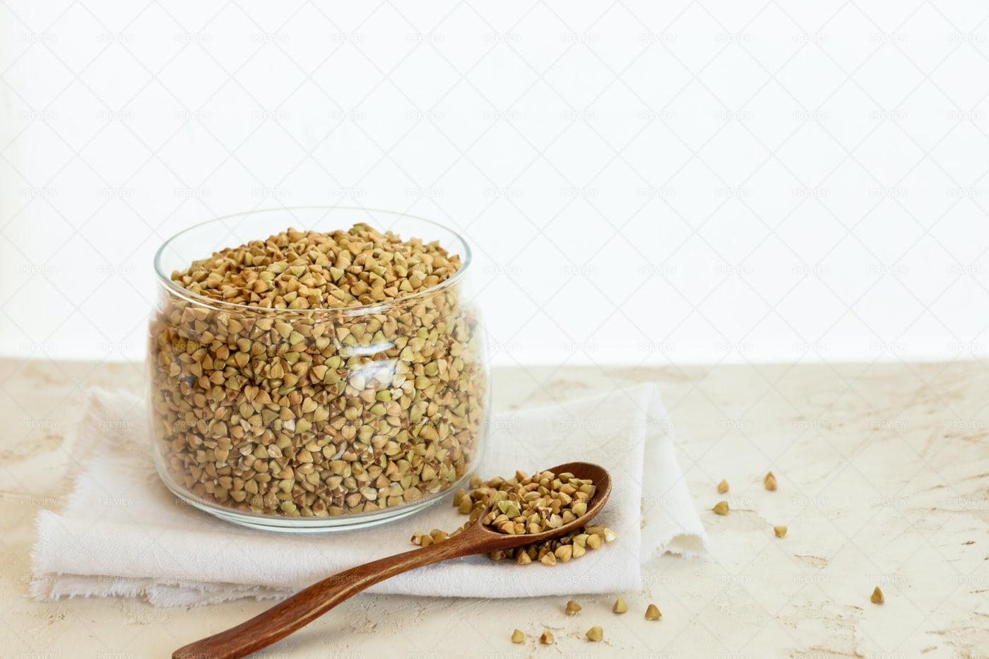 Green Buckwheat Background: Stock Photos