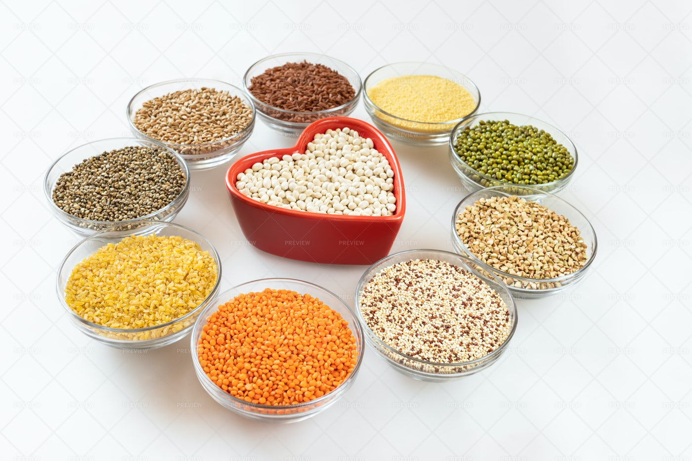 Beans, Grains And Seeds Composition: Stock Photos